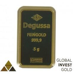 Lingote de Oro Degussa FEINDGOLD