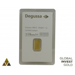 Ingot of Gold DEGUSSA Happy Birthday