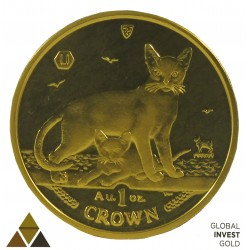 Onza De Oro Isla del Hombre Gatos 31,10 g