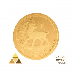 1/2 Ounze of Gold Year of Dog
