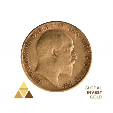 Moneda de Oro Soberano Eduardo 1909