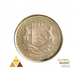 Gold 0.900 Republic of Somalia 5 Anniversary of independence 2.8 g
