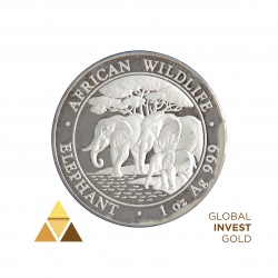"Ounce of Silver 100 Shillings Republic of Somalia ""African Wildlife"" (2013)"
