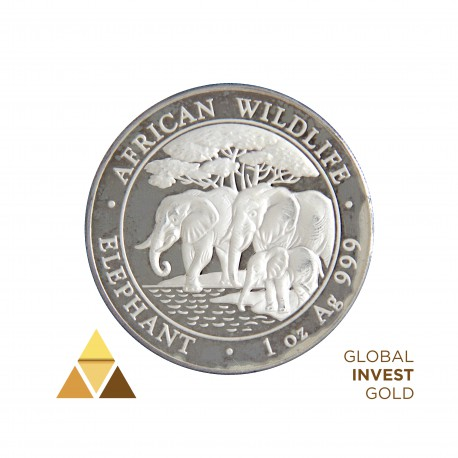 """Ounce of Silver 100 Shillings Republic of Somalia """"African Wildlife"""" (2013)"""