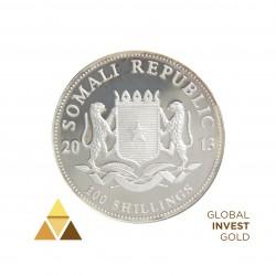 Onza de Plata 100 Shillings República de Somalia
