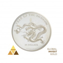 Silver Ounce 20$ The Year of Dragon 2012