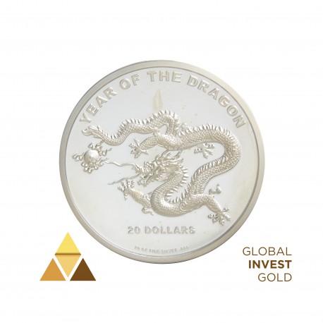 20 Onza de Plata 20$ Año del Dragón