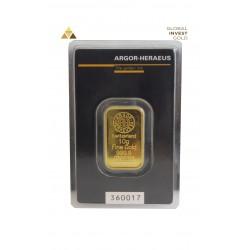 Lingote de Oro 10 g Argor-Heraeus