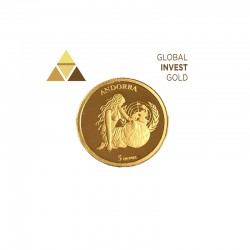 Moneda Oro Andorra 2004 /5 diners