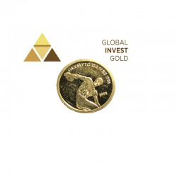 Moneda de Oro Samoa Juegos Olimpicos 1996