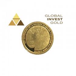 Moneda de Oro España Adhesión Portugal 2011