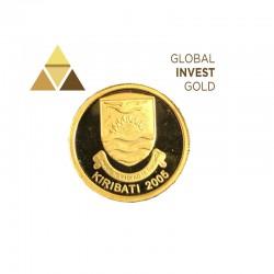 Moneda de Oro Kiribati 2005-10 Dolares.