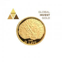 Moneda de Oro Letonia 10 Latu 1998
