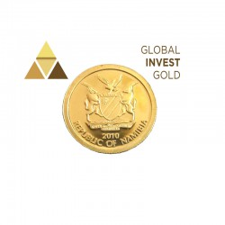 Moneda de Oro Namibia 2010-10 Dolares.