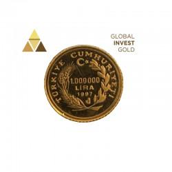 Moneda Oro Turquía 1997.