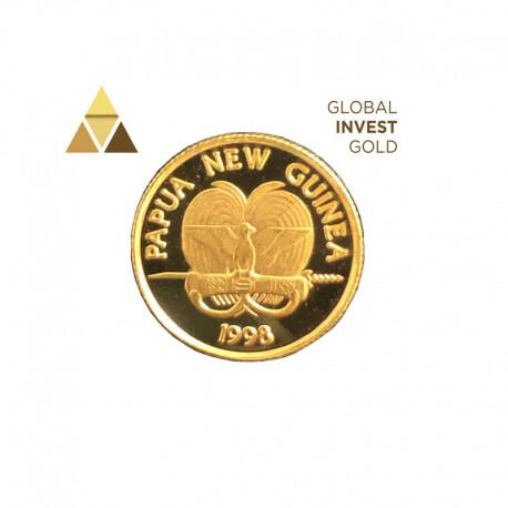 Moneda Oro Papúa Nueva Guinea 1998.