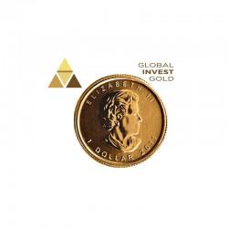 Moneda de Oro Canada Hoja de Arce 1/20 Oz.