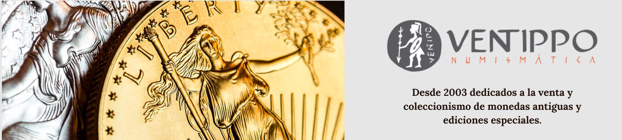 Numismática Ventippo. Venta y coleccionismo de monedas antiguas y ediciones especiales.